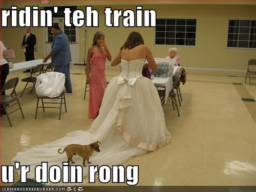 ridin' teh train  u'r doin rong