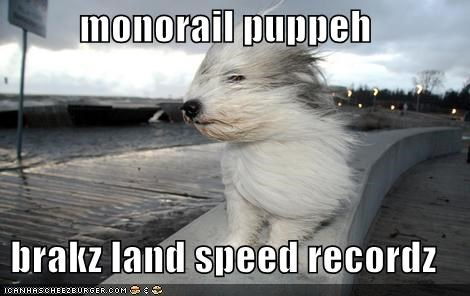 monorail puppeh  brakz land speed recordz