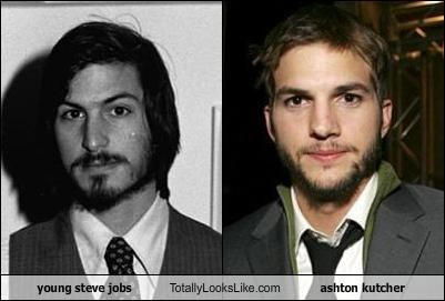 young steve jobs Totally Looks Like ashton kutcher