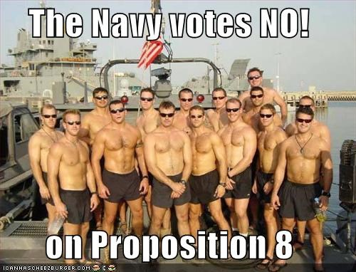 The Navy votes NO!  on Proposition 8