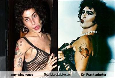 amy winehouse,cult films,dr frankenfurter,Rocky Horror Picture Show,tim curry