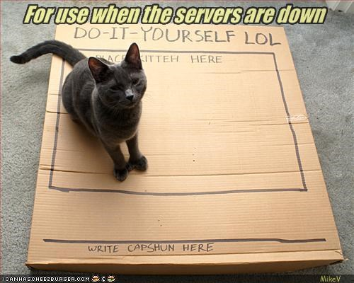 For use when the servers are down