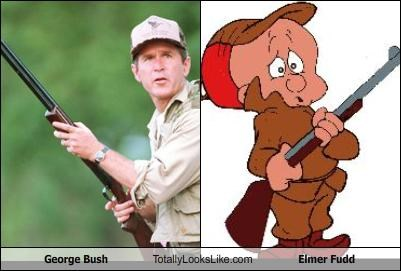 George Bush Totally Looks Like Elmer Fudd