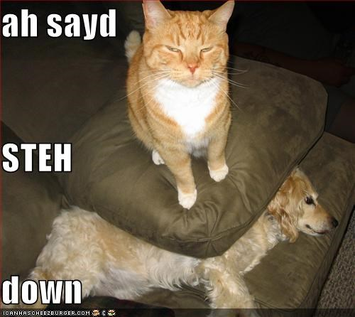 ah sayd STEH down