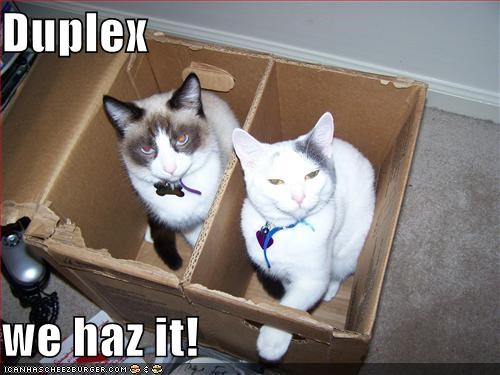 Duplex  we haz it!