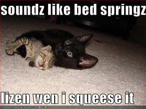 soundz like bed springz  lizen wen i squeese it