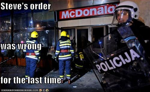 firefighters,McDonald's,police