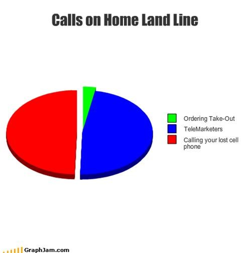 Calls on Home Land Line