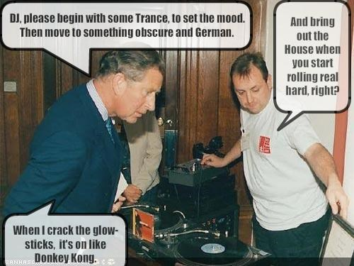 DJ, please begin with some Trance, to set the mood. Then move to something obscure and German.
