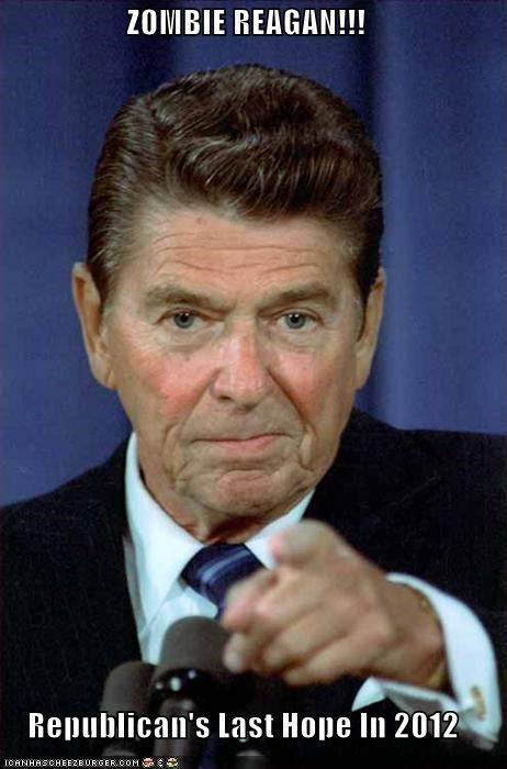 ZOMBIE REAGAN!!!  Republican's Last Hope In 2012
