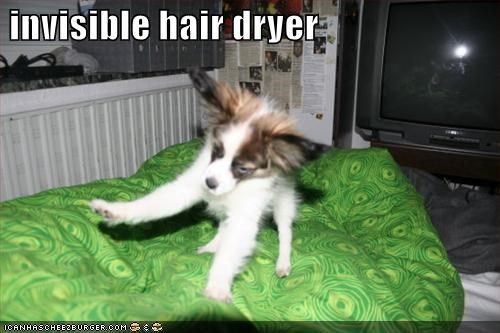 invisible hair dryer