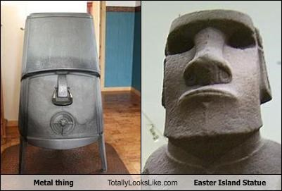 Metal thing Totally Looks Like Easter Island Statue