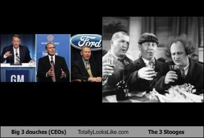Big 3 douches (CEOs) Totally Looks Like The 3 Stooges