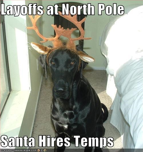 Layoffs at North Pole  Santa Hires Temps