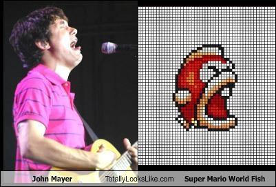 John Mayer Totally Looks Like Super Mario World Fish