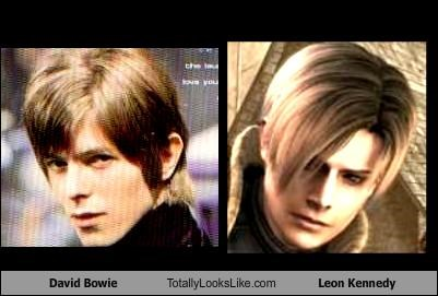 David Bowie Totally Looks Like Leon Kennedy
