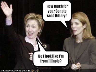 How much for your Senate seat, Hillary?