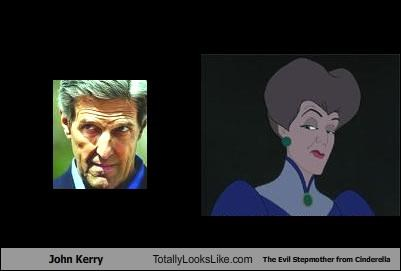 John Kerry Totally Looks Like The Evil Stepmother from Cinderella