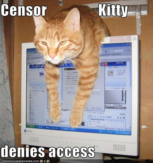 Censor                 Kitty  denies access