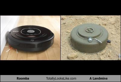 electronics,landmine,roomba,weapons