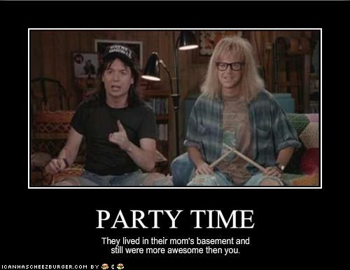 dana carvey,excellent,mike myers,party time,TV,waynes world