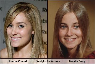 Lauren Conrad Totally Looks Like Marsha Brady
