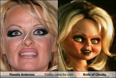 Pamela Anderson Totally Looks Like Bride of Chucky
