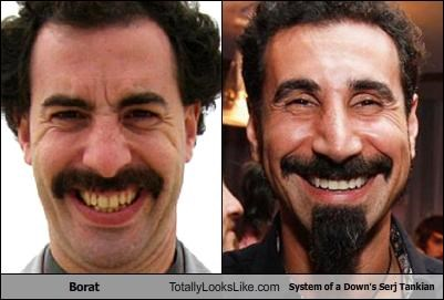 Borat Totally Looks Like System of a Down's Serj Tankian