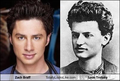 Zach Braff Totally Looks Like Leon Trotsky