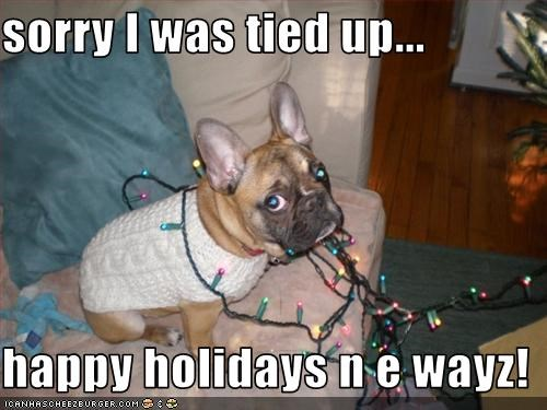 sorry I was tied up...  happy holidays n e wayz!