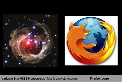 Variable Star V838 Monocerotis Totally Looks Like Firefox Logo