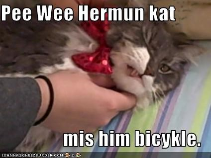 Pee Wee Hermun kat  mis him bicykle.