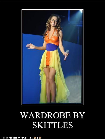 British,candy,cheryl cole,color,costume,dress,reality shows