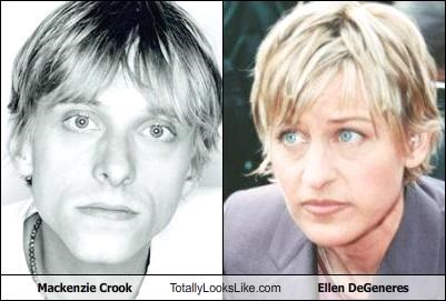 Mackenzie Crook Totally Looks Like Ellen DeGeneres
