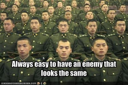 Always easy to have an enemy that looks the same