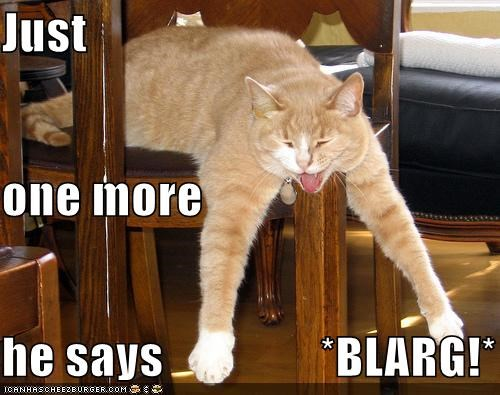 Just one more he says                *BLARG!*