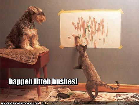 happeh litteh bushes!