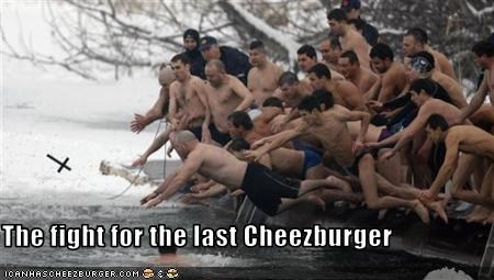The fight for the last Cheezburger