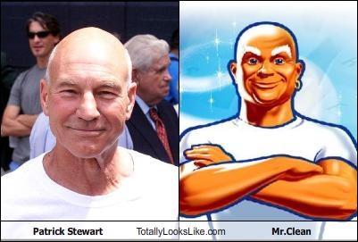 Patrick Stewart Totally Looks Like Mr.Clean