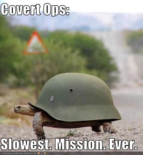 Covert Ops:  Slowest. Mission. Ever.