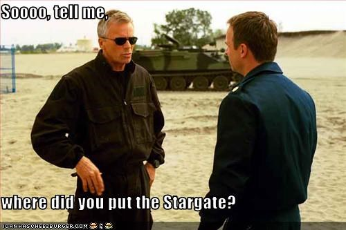 Soooo, tell me,  where did you put the Stargate?