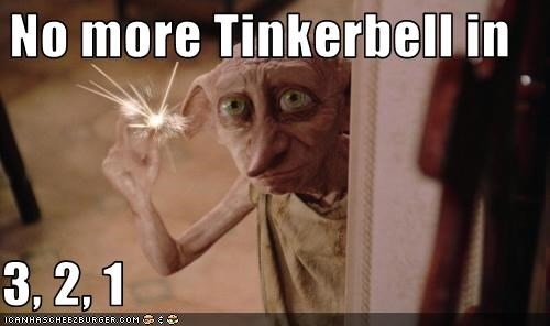 No more Tinkerbell in  3, 2, 1