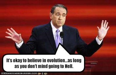 It's okay to believe in evolution...as long as you don't mind going to Hell.