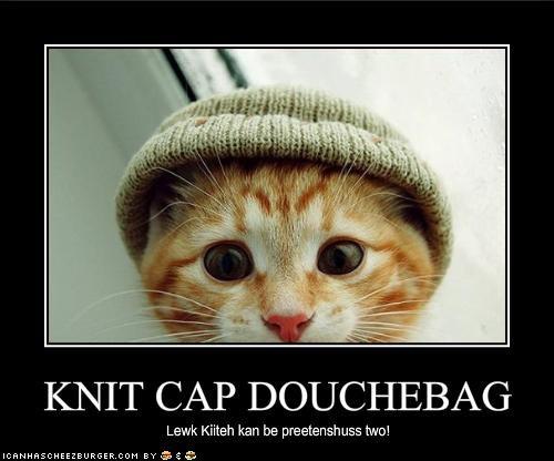 KNIT CAP DOUCHEBAG