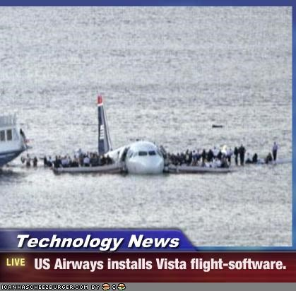 Technology News -  US Airways installs Vista flight-software.