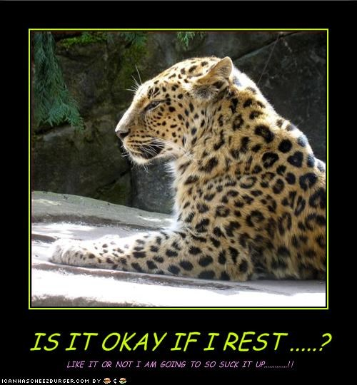 IS IT OKAY IF I REST .....?
