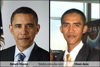 Barack Obama Totally Looks Like Ilham Anas