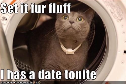 Set it fur fluff  I has a date tonite