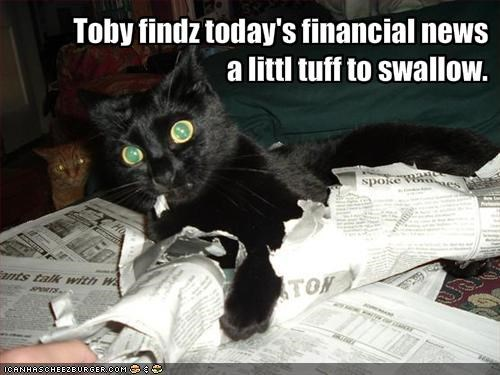 Toby findz today's financial news 