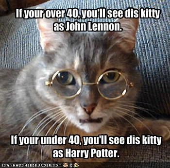 If your over 40, you'll see dis kitty as John Lennon.